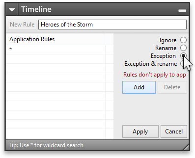 Add Exception rule for Heroes of the Storm