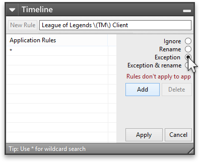 Add Exception rule for League of Legends