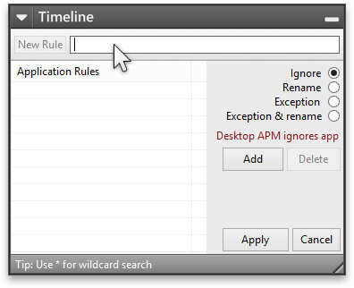 Desktop APM: Add rule