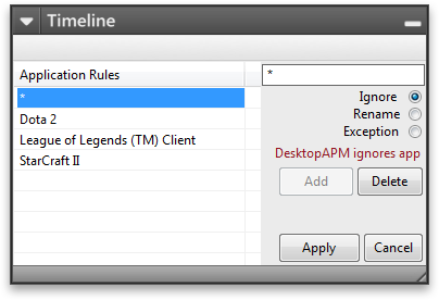 Desktop APM Rules